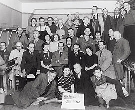 Employees of the Otto Weidt Workshop for the Blind at Rosenthaler Straße 39, Berlin, 1941.