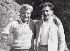 Georg Elser (rechts) mit seinem jüngeren Bruder Leonhard, um 1935
