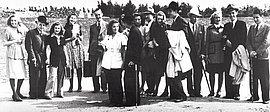 Swing-Jugendliche aus Hamburg-Eppendorf bei einem Ausflug, um 1941