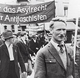 Für das Asylrecht Demonstration in Zürich 1. Mai 1933