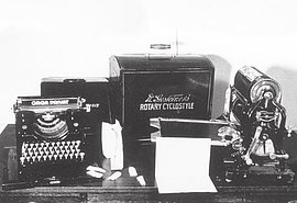 Printing press of the resistance group ADV