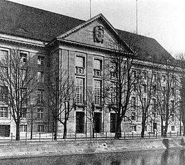 The Reich Naval Office in 1914, Berlin-Tiergarten, Königin-Augusta-Straße 38-42.